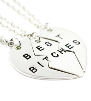 Best Bitches 3 Chain Silver Necklace