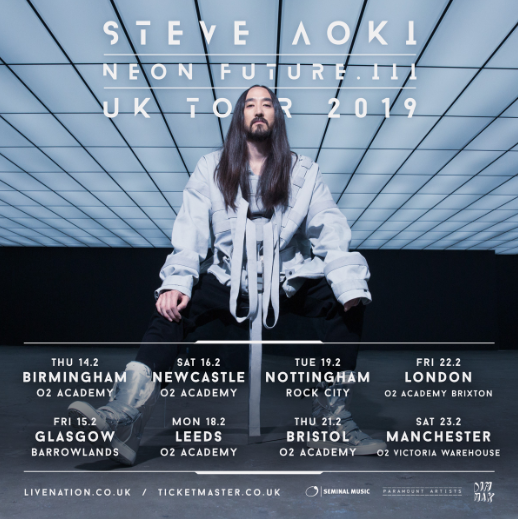 Steve Aoki Announces Uk 2019 Tour Following The Release Of 1 Hit