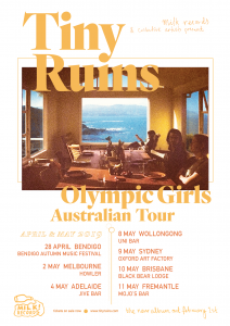 Tiny Ruins - Olympic Girls is out Friday 1st February via Milk! Records / Remote Control Records. Tiny Ruins Website | Facebook | Twitter | Instagram