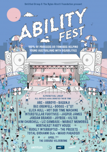 Ability Festis a1dayfestival brought to you by theDylan Alcott Foundation&Untitled Groupthat aims to use music as an inclusive platform to normalise disability. Launched by 3 time Paralympic gold medalist & 7-time grand slam winnerDylan Alcott, Australia's most inclusive music festival is held at theCoburg Velodrome, known better as Melbourne's favourite concretedonutAbilityFest was born by Alcott due to his love of music and his desire to use his foundation to change the lives of young Australians living withdisability. Last year, Ability Fest did just that,raising just shy of $200,000for Alcott's foundation. The Coburg Velodrome will be transformed into a completely accessible venue with the inclusion of elevated platforms, pathways, quiet zones, companion ticketing, ramps, stacks of friendly volunteers & of course accessible toilets are a priority of the Ability Fest team.