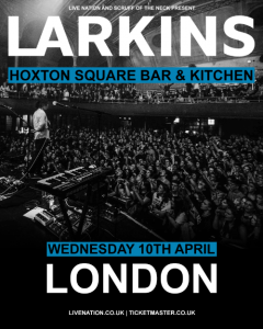 """PERFORMING AT FESTIVALS INCLUDING: SXSW, Y NOT?, LIVE AT LEEDS & NEIGHBOURHOOD Fast-rising Manchester guitar-pop band Larkins have announced a London headline show and will play Hoxton Bar & Kitchen on April 10th. Tickets will be available via Ticketmaster. A pre-sale goes live on Wednesday March 6th and tickets are then available on general sale on Friday March 8th. The announcement comes on the back of their recent four date headline tour, which concluded with an incredible sold out hometown show to 2000 fans at Manchester's Albert Hall. Reflecting on the most recent tour and looking forward to the London show frontman Josh Noble says, """"This recent tour blew our minds. The way people sang and danced with us took the shows to a whole new level. It concluded in our biggest headline show at the Albert Hall in Manchester. We're attempting to create a show that is a new experience for both the band and the audience and we're confident we will continue to make fresh and exciting music over the next 12 months. Heading to London to show what we've got is always an exiting prospect. It's been a while since we've played there and we feel like a whole new band since then, we can't wait."""" Larkins recently released their latest single 'TV Dream' through Good Soldier Records. The song features bright synths, 80s-inspired guitars and a huge chorus showcasing their knack for intelligent songwriting and delicious pop hooks reminiscent of the likes of CHVRCHES, The 1975 and Pale Waves. Regarding the single frontman Josh says, """"'TV Dream' was inspired by my grandparents; the idea that romance and dancing has lost its appeal and vigour from what it used to be. Instead, when we turn on the TV we see these visions of gender inequality, and blaming sexism on the way people dress. I loved combining such a blissful story of romance with a more serious tone of being influenced by the modern media."""" Larkins have also been announced to play a number of festivals this year including SXSW, Y N"""