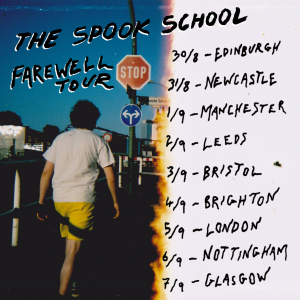 """Trailblazing Scottish indie-pop bandTHE SPOOK SCHOOLhave announced they willsplit later this yearfollowing a finalfarewell tour in August/September 2019. Tickets areon sale now. The band were nominated forScottish Album of The Year in 2018with their third albumCould It Be Different?out now on Alcopop! Records—an internationally acclaimed release that was packed with hope and good will, passionately championing LGBTQ+ rights and inclusivity. An official statement from the band reads as follows: """"We have an announcement. This year will mark the end of the project known as The Spook School. Whilst it is incredibly sad, we really want to look back with joy on this journey. It's easy to forget all the things we managed to achieve with close to zero knowledge of how the music industry works (we still don't really understand a lot of it!). We started as friends and we are ending the exact same way. We still love each other and in the future we will continue to work together on creative projects, but real life has a habit of getting in the way and eating up time and energy. We just can't devote ourselves to the band the way we want to anymore and we would rather go out with a fanfare than let The Spook School drift quietly away. We have achieved so much more than we ever thought possible and we are so, so grateful for everything we got to experience. We have met so many people and seen so much of the world that would have remained hidden from us if it wasn't for this band. To mark our departure we plan to go out with an almighty bang. We will be embarking on a farewell tour of the UK in August and September culminating in our final show in Glasgow on September 7th. It would be lovely to see you, sing with you, and dance with you for a last time. It has been 8 years, 3 albums, countless silly covers, hundreds of adventures, and one highly unofficial endorsement from Linda McCartney's Vegetarian Sausages. We will never forget our time as The Spook School. Finally, we want to """