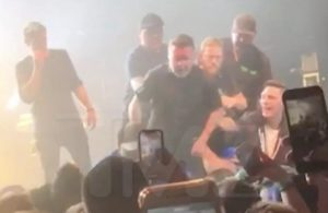 """Ken Casey Bloodied after an altercation with an aggressive fan. Frontman Al Barr addressed the crowd: """"We've been doing this for a number of years, and having been here for 21 of those years, I can tell you this is not new. When we invite you guys to come to one of our shows, it's like we're saying come to our house. And when someone disrespects us, you're disrespecting us in our house."""""""
