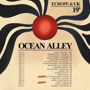 """Due to overwhelming demand, Australian psych-surf-rockers Ocean Alley have added another London show to their upcoming UK tour in August, which also sees them play in Glasgow and Manchester. After selling out the Electric Ballroom, the band have added a show at EartH on August 30th as well as announcing a full European tour. Tickets will go on sale at 9am on Friday (12th April) and will be available here. """"We're stoked to announce our full run of dates for our return to Europe and the UK for August and September, including a 2nd show in London which is going to be wild. See you soon!"""" say the band. The announcement follows the release of their new single, 'Stained Glass', the first new music from the band since the release of their momentous second album Chiaroscuro, which spawned the triple j Hottest 100 #1 and ARIA-accredited Gold single 'Confidence' and saw them sell out shows worldwide. The band recently supported Tash Sultana across their native Australia and will be playing a slot at the Byron Bay Bluesfest this month. They then have a pit stop in Uluwatu, Bali before an extensive run of dates in the US and Canada during May, June and July after which they head to Europe and the UK for their run of headline shows and slots at Reading & Leeds and Boardmasters festivals. OCEAN ALLEY TOUR DATES 2019 Wed 7th Aug – Budapest, Sziget Fri 9th Aug – Cornwall, Boardmasters Sat 10th Aug – Landernau, Fete de Bruit Sun 11th Aug – Plombieres, Rock Les Bains Tue 13th Aug – Frankfurt, Nachtleben Thu 15th Aug – Prague, Tone up at Cross Club Fri 16th Aug – Winterthur, Musikfestwochen Sat 17th Aug – Munich, BackStage Club Mon 19th Aug – Berlin, Badehaus Tue 20th Aug – Hannover, Bei Chez Heinz Thu 22nd Aug – Charleville, Mezieres Cabaret Vert Fri 23rd Aug – Reading Festival Sat 24th Aug – Leeds Festival Tue 27th Aug – London, Electric Ballroom SOLD OUT Wed 28th Aug – Glasgow, King Tuts Thu 29th Aug – Manchester, Gorilla Fri 30th Aug – London, EartH Sun 1st Sep – Antwerp, Kavka Tu"""