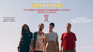 """""""If the rest of the tunes on their EP are anywhere near as strong as this, we reckon it will be up there with the releases of 2019.""""-Life Without Andy Sydney dream pop quartetGoodsideintroduce themselves with their infectious debut single'I've Been Feeling Something Lately' from their debut EP out later in the year.  Immediately addictive, the singlecovers the challenges and importance of the creative process. Bright, shimmery guitars and buoyant rhythms anchor the track and provide a solid base for the can't-get-it-out-of-your-headmelody.  Initially appearing as a love song, front-womanCasey Logemannexplains the meaning behind the lyrics,""""When I wrote I've Been Feeling Something Lately, I was in a rut and had stopped playing music entirely. I had this burst of excitement to write for the first time in years, it made me feel like myself again.""""She continues """"I didn't want to create pressure surrounding my creative process, I just wanted the music to be fun. That's sort of what the song is about and also why I startedGoodside.""""  Fronted by the captivating charm of Casey Logemann,Goodsidehave already made their mark on the local live scene. In their short career they've supported the likes ofFraser A. Gorman, ILUKABig White, alongside cutting their teeth at regular club nights. No strangers to the stage each member has honed theircraft innoteworthy bands includingPhantastic Ferniture,Ultracrush, Gypsys of Pangea, Boysnlove, and Julia Jacklin's live band.  'I've Been Feeling Something Lately'is just a glimpse of the 90's nostalgiaGoodsidewill be bringing in 2019 with their debut EP due out later in the year. GOODSIDE 'I've Been Feeling Something Lately' OUT NOW launching at The Bank Hotel, Waywards Tuesday, 28th May w/ Harley Mavis +Ainsley Farrell FREE ENTRY Facebook Instagram"""