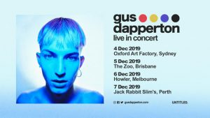 """Untitled Group are proud to present the highly anticipated debut tour of indie-pop artist Gus Dapperton who with his recent albumWhere Polly People Go To Read, is iconically presenting a new and fresh place for pop culture and music. Having amassed millions of streams since its release, the album out via AWAL has attracted media attention from Pitchfork, Spin, Another Man Magazine, The Fader and more since its inception. The Warwick, NY singer, songwriter, and vibe maestro invites you to take up residence deep inside of his subconscious as embodied by these ten tracks on the album. """"The album is basically what I see inside of my head, and it's the dimension you're entering when you hear it,"""" he explains. """"It's very personal and honest to me. There are a few emotional roller coasters. I've come to terms with reality and the inconveniences inherent in how I see things. Being able to express myself however I want, regardless of the result good or bad, makes me feel content and real."""" He also unpresumptuous-ly inched towards making such a statement since his emergence in 2016. A series of anthems a la """"Prune, You Talk Funny,"""" """"I'm Just Snacking,"""" and """"Moodna, Once With Grace"""" generated tens of millions of streams and views as he hovered around 1 million monthly listeners on Spotify and dropped a pair of EPs—Yellow and Such[2017] andYou Think You're a Comic![2018]. Acclaimed byVogue,The Fader,Pigeons & Planes, andNylonand pegged among""""10 Artists to Watch in 2019""""byHigh Snobiety, he embarked on a globe-trotting journey that placed him in front of sold out audiences around the world. In the midst of such madness, he pieced togetherWhere Polly People Go To Readback in his bedroom at his parents house. At the time, the record reflected the current ups and downs of his personal life. """"It captures the whole last year of my life,"""" he goes on. """"The first four songs are the demise of a relationship and heartbreak. By the time the fifth song starts, it's experiencing love once mor"""