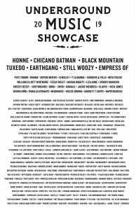"""Underground Music Showcase Announces 2019 Lineup More than 200 artists will perform during Denver's largest music festival July 26-28 Who: The Underground Music Showcase (UMS), Denver's largest and most iconic music festival, just announced the full 2019 lineup and will once again bring an array of acclaimed national and local artists, creatively curated stages, and host endless surprises across the three-day showcase. From Friday, July 26 through Sunday, July 28, the 19th annual Underground Music Showcase will return to the historic and hip Broadway corridor just south of downtown Denver. What: The just announced 2019 UMS lineup, with performances by more than 200 artists, includes national headliners Honne, Chicano Batman, Black Mountain, Tuxedo, Earthgang, and Still Woozy. Supporting artists include Empress Of, Yves Tumor, DRAMA, Sophie Meiers, LEIKELI47, Y La Bamba, Gardens & Villa, William Elliott Whitmore, Miya Folick, Tessa Violet, Haviah Mighty, Liza Anne, Spooky Mansion, Greyhounds, Dressy Bessy, DBUK, SWSH, Kainalu, Jackie Mendoza, Clavvs, Rapperchicks, Rich Jones, Divino Niño, Parallelephants, Deezie Brown, Garrett T Capps and more and more than 200 acts from across Colorado. View the full lineup here: https://www.undergroundmusicshowcase.com/lineup. """"UMS is a strong representation of all types of music. This year's lineup of national and local bands was strategically designed to showcase the volume of musically talented individuals Denver has grown while also inviting some national acts to crash the party"""" said Tobias Krause, Event Director of Underground Music Showcase. """"Denver's music scene is growing and shaping into something special, something worth putting Denver on the map as a nationally recognized 'music city.' We have put our heart and soul into ensuring UMS helps grow that positive image for all Denver artists while keeping the soul of this underground music community alive."""" When: Friday, July 26 – Sunday, July 28 Where: The Underground Music"""