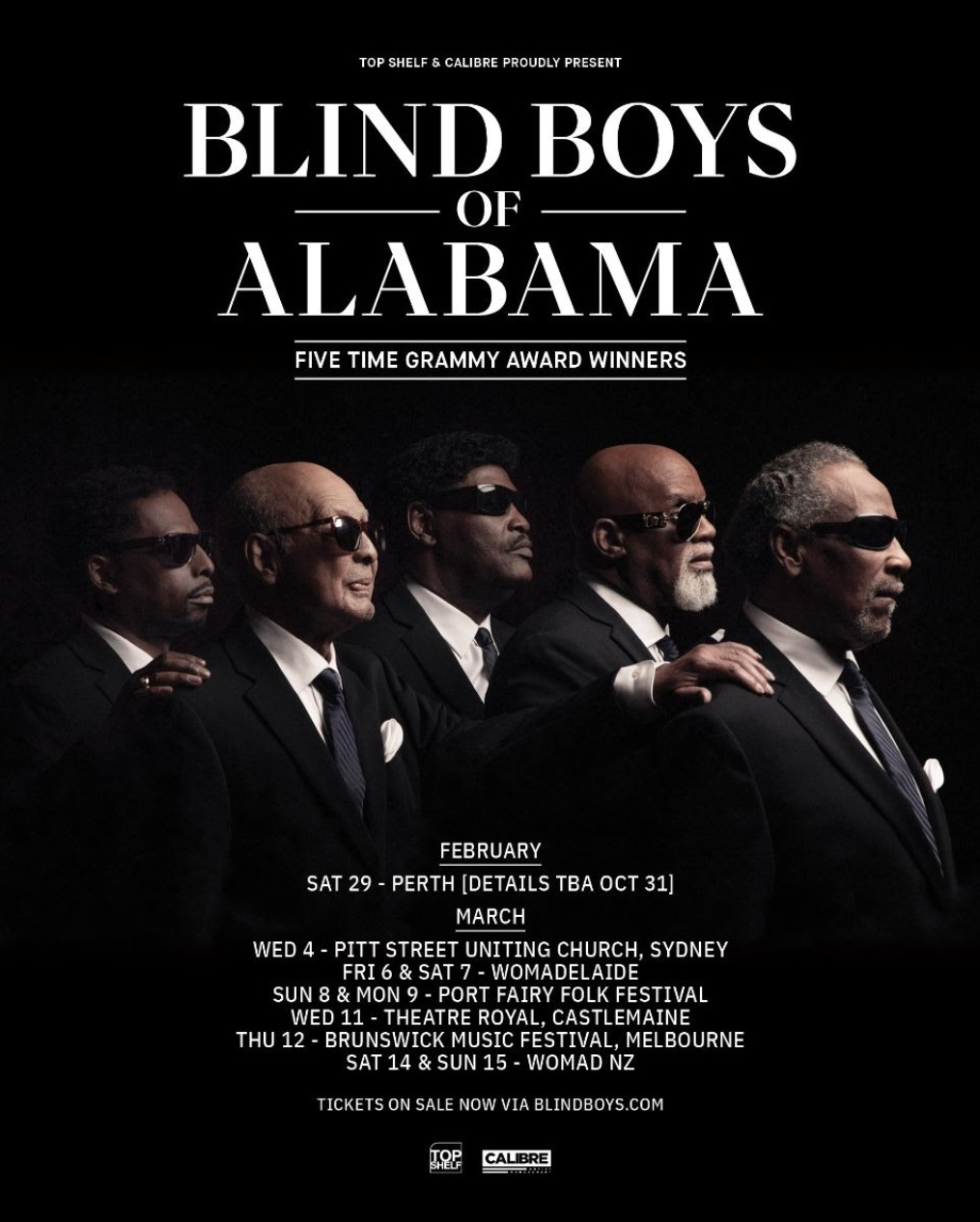 Alabama Tour 2020.The Blind Boys Of Alabama Announce Australian Tour Five Time