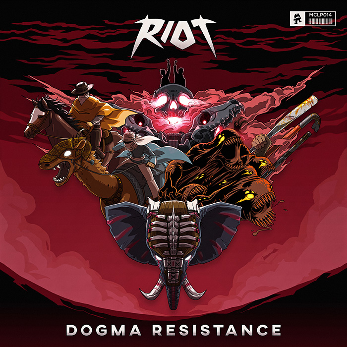 """Artists: RIOT Title: Dogma Resistance Label: Monstercat Pre Save & Pre Order of Digital Version and Hard Copies (Limited) of the """"Dogma Resistance"""" Comic Anyone who pre saves/pre orders it, gets a 4-page preview and will automatically get an email on Nov 13 with a download link to the full version of the comic MonstercatveteransRIOTintroduce their most epic project to date, the storyline-based, immersive sonic journey known as """"Dogma Resistance."""" In the form of a ten-track studio album and accompanying visual comic book by companyHERØ,RIOTbrings to life the story ofRaymond Coltand his descendants in a fusion of past and future. """"Dogma Resistance"""" begins in the year1936, whenColtand his sidekick accidentally uncover a nefarious force of evil that the world has never seen before. Fast-forward to the year2045and this evil, known asDeinos, has been ruling the world for over a century. Follow along asColt's descendants rage a war to fight for all of the humankind against the alien enemy, an adventure that will test them to their very limits and brings them into contact with things of legend, such as the protector of the long-lostcity of Atlantis. Each ofRIOT's ten tracks evokes a different phase of the plotline, beginning with the adventurous and assaulting """"Jungle Fury"""" and the drum & bass influenced """"Disorder,"""" which signifies the rebirth ofDeinos.RIOTexplores a myriad of sound and genre inspirations on the album, from eastern exotic instrumentals in """"Desert to Desert"""" to fury-filled bass in the climactic """"Overkill."""" A storyline of this complexity is truly an artistic achievement, something thatRIOThas been hard at work on for quite some time. Read below to check out what the duo has to say about """"Dogma Resistance"""": """"'Dogma Resistance' is an album we have been working on for well over a year and a half now. The production from start to finish was one of the toughest challenges as producers that we have faced. Creating a seamless storyline in electronic music can someti"""