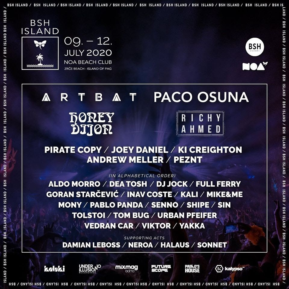 BSH ISLAND FESTIVAL WELCOMES ARTBAT, HONEY DIJON, RICHY AHMED, PACO OSUNA AND MORE TO CROATIA