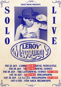 LEEROY MACQUEEN - MORE SHOWS ADDED!