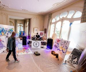 Florian Picasso lit up Pablo Picasso's atelier combining two artistic worlds in an exclusive livestream with artist Cyril Kongo