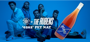 """To celebrate the release of their fourth album 0202 next Friday 12 February, The Rubens have announced they'll be collaborating with the fine wine merchants at Built to Spill Wine, to bring fans the band's very own 0202 Cabernet Pet Nat! The limited-edition wine, personally selected by the band, will be available to pre-order on its own, via album bundles or a ticket bundle option for the band's just-announced, unbelievably intimate Sydney show at Crowbar next Wed 10 Feb. Tickets are on sale now and extremely limited, so fans are encouraged to get in quick! After many taste tests with the band, the Built to Spill Wine team paired the indie-pop genre benders with Ryan O'Meara of Express Winemakers, who delivers some of the freshest juice to come out of the Great Southern. O'Meara concocted this effervescent little release from healthy cabernet grapes with gentle pressing to make it light and finished it pet nat style; naturally sparkling, unnaturally delicious. It is a wild fruited fizzer, plenty of blood orange upfront, like a San Pell Aranciata Rossa with layers of watermelon granita, refreshing herbal notes and a crunchy, dry finish. Speaking of the collaboration, frontman Sam Margin says: """"We're so bloody excited to have collaborated with Built to Spill Wine and Express Winemakers to bring you our 0202 Cabernet Pet Nat. It's yum as and it's got bubbles, so it's the perfect bottle to pop in celebration of our new album 0202!"""" This week the band also kick off their Album Launch Series – a 6-date run of regional NSW starting in Bathurst this Thurs Feb 4, followed by Morton (Fri Feb 5), Tamworth (Thurs Feb 11), Dubbo (Fri Feb 12), Port Macquarie (Sat Feb 13) before finishing in Thirroul on Fri Feb 20. Cementing their status as a band that continues to evolve as songwriters and push the boundaries of alternative rock/pop, new album 0202 – featuring hits 'Live In Life', 'Time Of My Life', 'Heavy Weather' & current single 'Masterpiece' (on high triple j rotation and cli"""