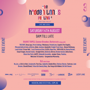 The Hidden Lanes Festival announces first line up feat. RAAVE TAPES, Connor Brooker, Buttercats and MORE