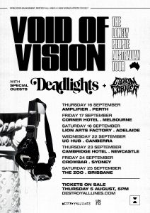 VOID OF VISION ANNOUNCE HEADLINE TOUR w/ SPECIAL GUESTS